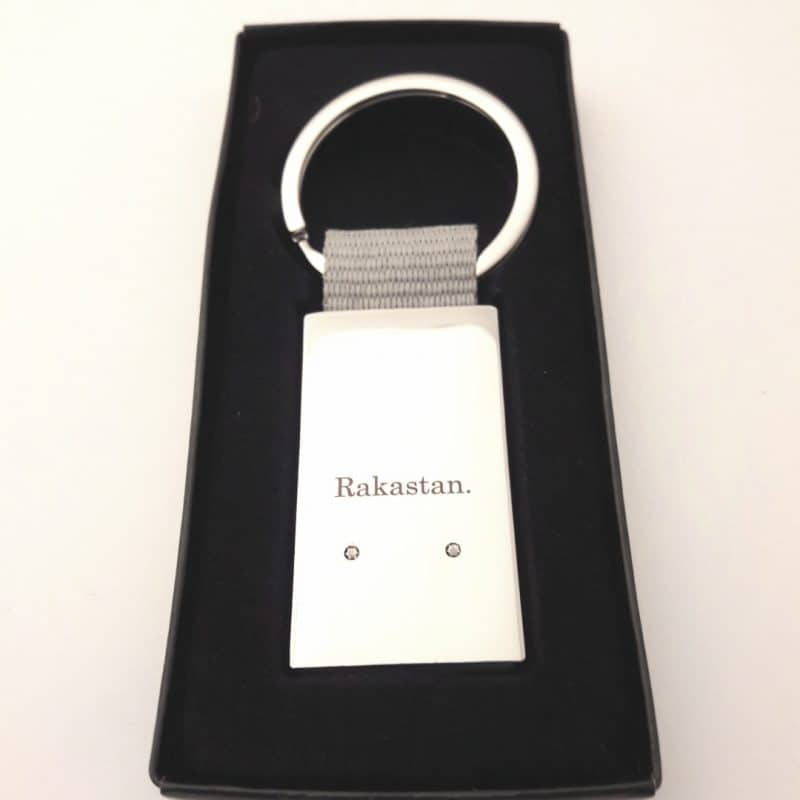 Metallinen avaimenpera henkilokohtainen viesti