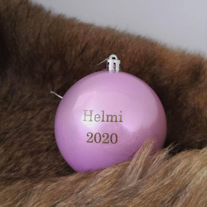 joulupallo nimikoitu Baby's first Christmas